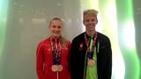 Tobias Bjerg og Julie Kepp Jensen er hjemme fra Baku med ialt 3 bronzemedaljer