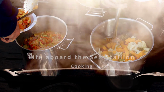 Life on board: Cooking